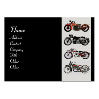 VINTAGE MOTORCYCLES red white grey black Business Card Template