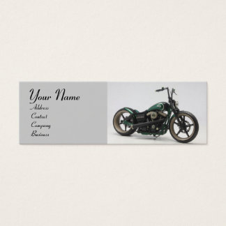 VINTAGE MOTORCYCLES red white grey black Mini Business Card
