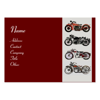 VINTAGE MOTORCYCLES red white grey Business Cards