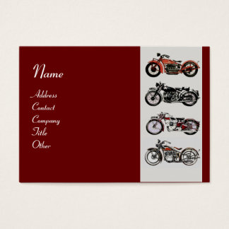 VINTAGE MOTORCYCLES red white grey Business Card