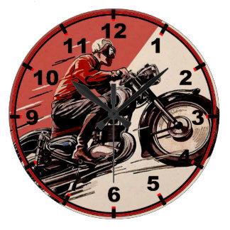 Vintage Motorcycles Reloj Redondo Grande