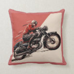 Vintage Motorcycles Throw Pillow at Zazzle