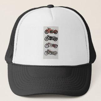 VINTAGE MOTORCYCLES TRUCKER HAT