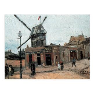 Vintage Moulin de la Galette Paris Postcard