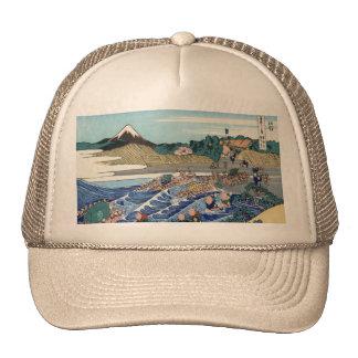 Vintage Mount Fuji Painting Trucker Hat
