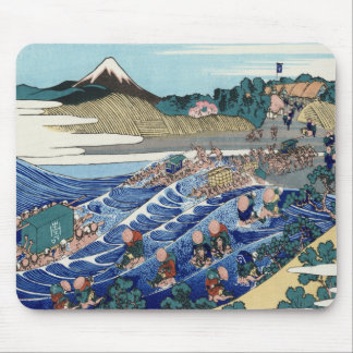 Vintage Mount Fuji Painting Mouse Pad