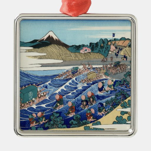 Vintage Mount Fuji Painting Ornament
