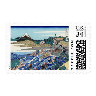 Vintage Mount Fuji Painting Postage