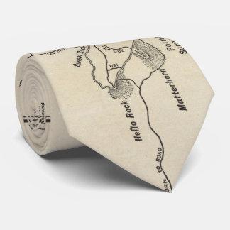 Vintage Mount Monadnock Trail Map (1910) Neck Tie