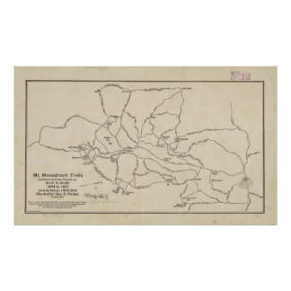 Vintage Mount Monadnock Trail Map (1910) Poster