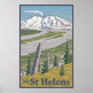 Vintage Mount St. Helens Travel Poster