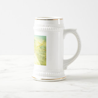 Vintage mountain climbers beer stein