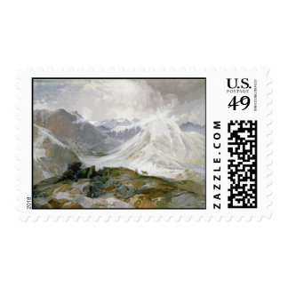 Vintage Mountain Illustration Stamp