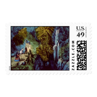 Vintage Mountain Illustration Stamp #4
