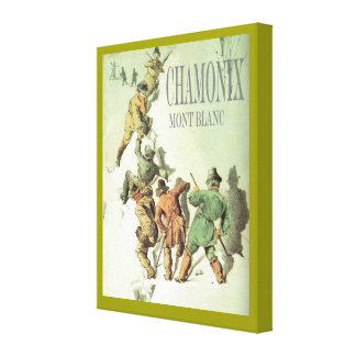 Vintage Mountaineering Climbing Mt Blanc 4810m Gallery Wrap Canvas