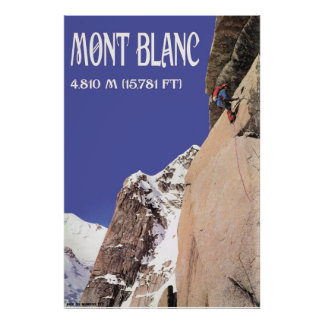 Vintage Mountaineering Climbing Mt Blanc 4810m Posters