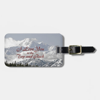 Vintage Mountains: I Love You to the Top and Back Bag Tag