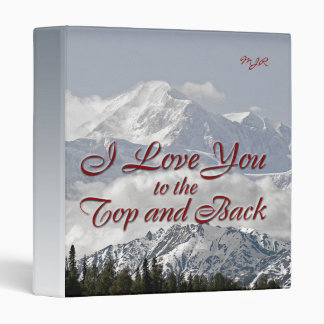 Vintage Mountains: I Love You to the Top and Back Binder