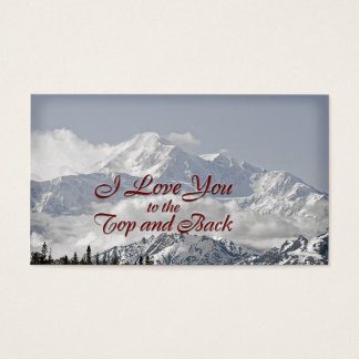 Vintage Mountains: I Love You to the Top and Back Business Card