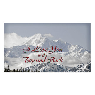 Vintage Mountains: I Love You to the Top and Back Double-Sided Standard Business Cards (Pack Of 100)