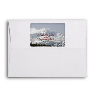 Vintage Mountains: I Love You to the Top and Back Envelope