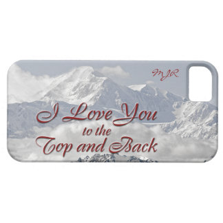 Vintage Mountains: I Love You to the Top and Back iPhone SE/5/5s Case