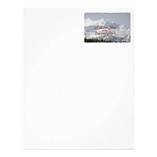 Vintage Mountains: I Love You to the Top and Back Letterhead