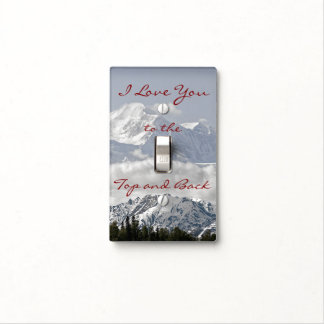 Vintage Mountains: I Love You to the Top and Back Light Switch Cover