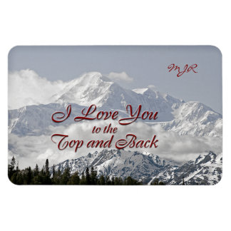 Vintage Mountains: I Love You to the Top and Back Magnet