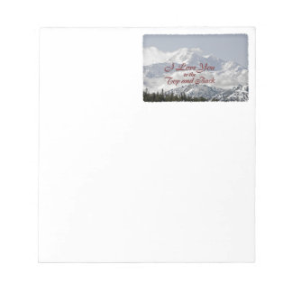 Vintage Mountains: I Love You to the Top and Back Notepad