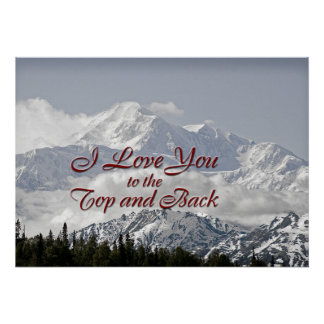 Vintage Mountains: I Love You to the Top and Back Poster