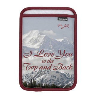 Vintage Mountains: I Love You to the Top and Back Sleeve For iPad Mini