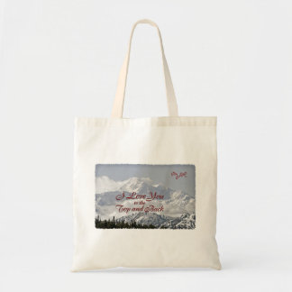 Vintage Mountains: I Love You to the Top and Back Tote Bag