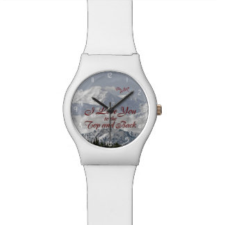 Vintage Mountains: I Love You to the Top and Back Wristwatch