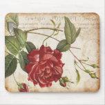 Vintage Mousepad color de rosa botánico Tapetes De Ratones