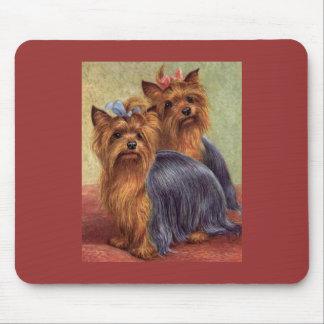 Vintage Mousepad de Yorkshire Terrier Tapetes De Raton