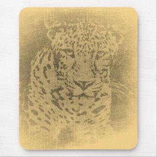 Vintage Mousepad del retrato del leopardo