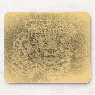 Vintage Mousepad del retrato del leopardo Tapetes De Raton