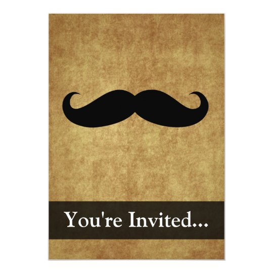 Vintage Moustache w/Custom Text Card