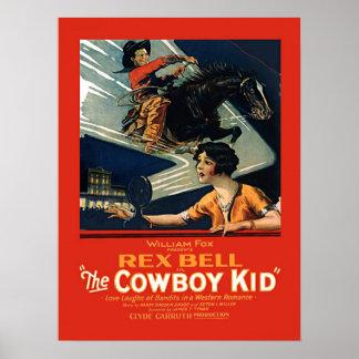 Vintage Movie Advertisement Rex Bell Cowboy Kid Print