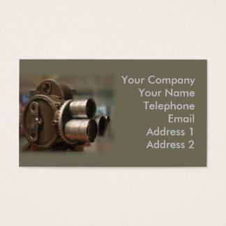 Vintage Movie Camera. Business Card