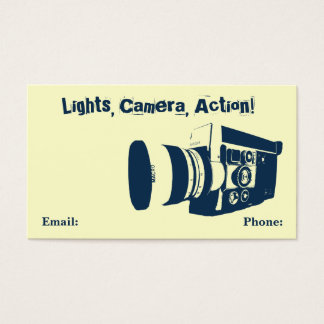 Vintage Movie Camera Business Card
