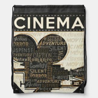 Vintage Movie Camera Drawstring Bag
