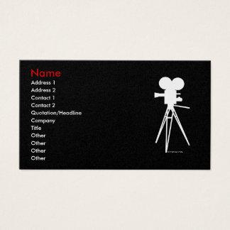 Vintage Movie Camera Silhouette Biz Cards
