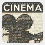 Vintage Movie Camera Stickers