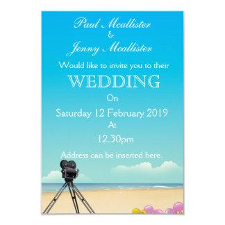Vintage Movie Camera Wedding invite