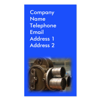Vintage Movie Camera.with Rotating Lenses Business Card