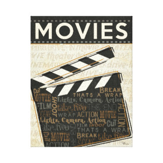 Vintage Movie Clapper Canvas Print