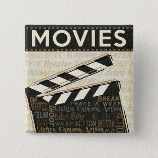 Vintage Movie Clapper Pinback Button
