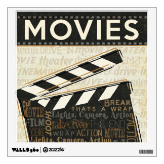 Vintage Movie Clapper Wall Decal